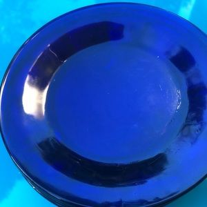 Vintage Dining - Vintage Cobalt Blue Dessert/ Appetizer Dishes USA